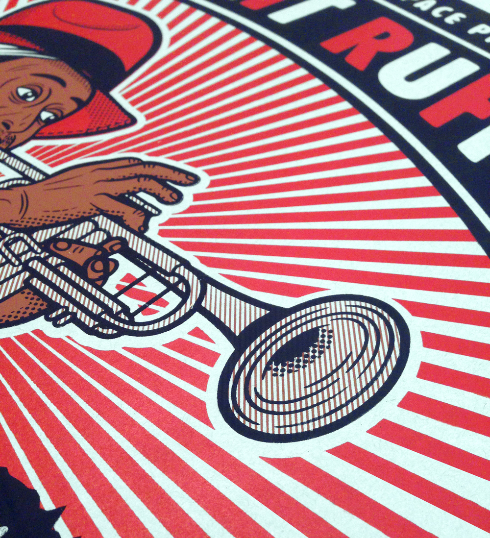 Kermit Ruffins Gig-Poster  [Image 3/3]  [18x24 / 3-Color]   Client: Evanston Space / Kermit Ruffins    PURCHASE A PRINT