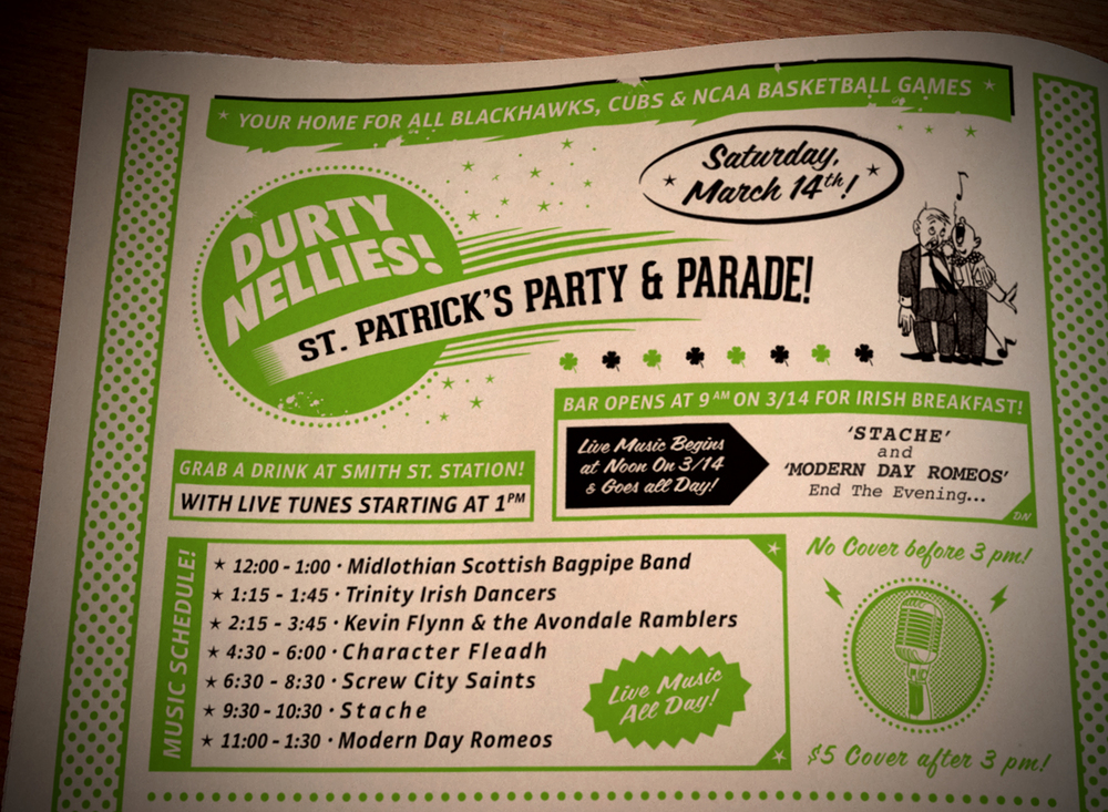 Durty Nellie's St Patrick's Ad Campaign [Image 2/2]  Client: Durty Nellie's