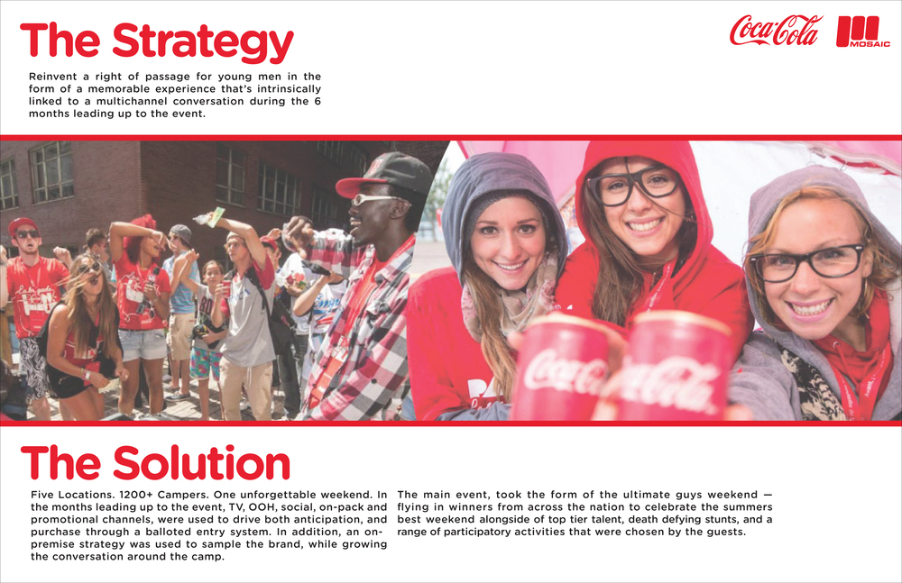 Coke - Marketing Campaign  [Image 2/3]  Client: Coca Cola / Mosaic XM