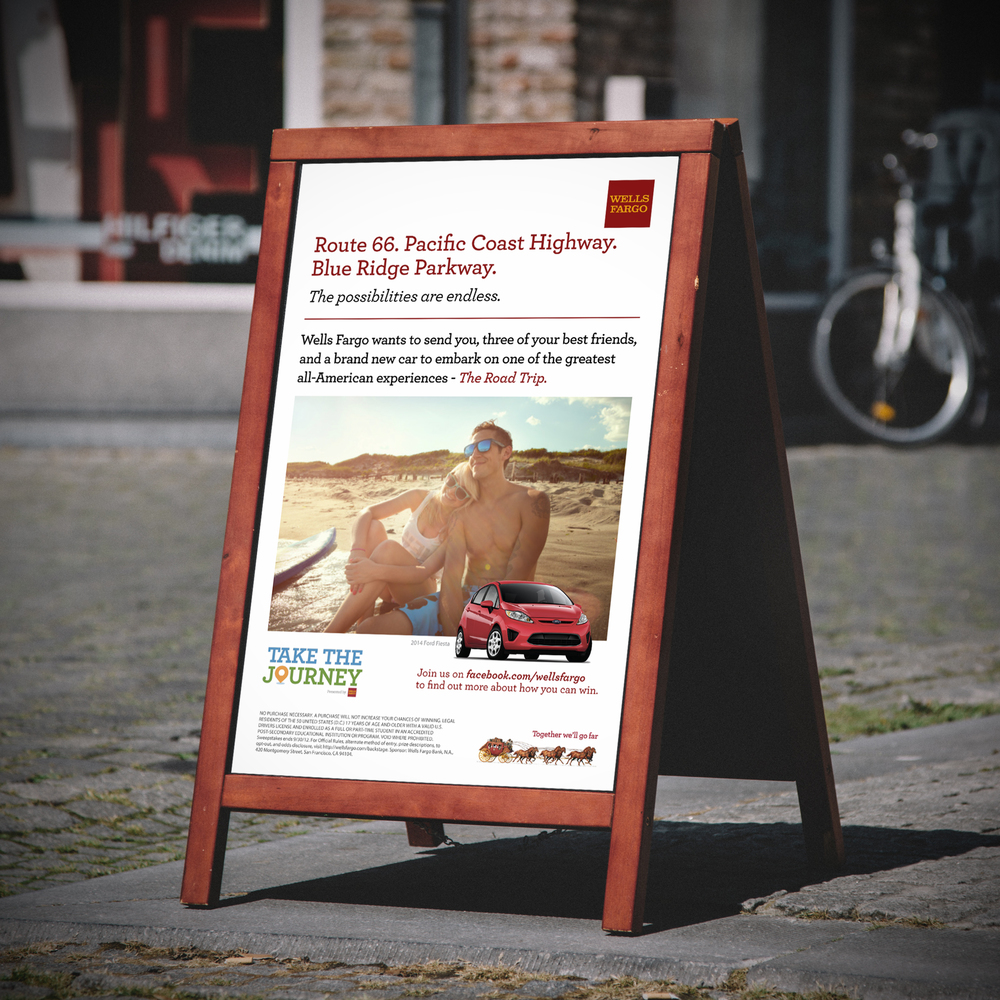 Wells Fargo Marketing Campaign  [Image 2/3]  Client: Wells Fargo / Mosaic XM