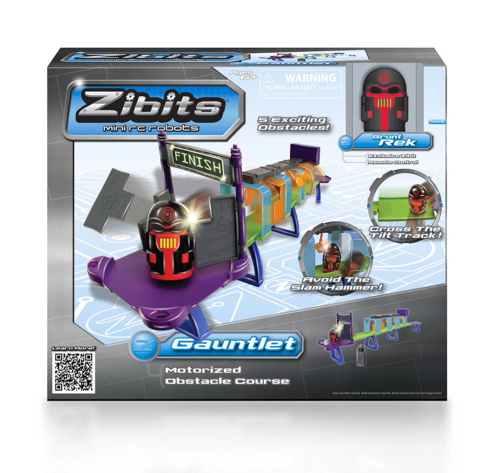 Zibits 'Gauntlet' Package Design  [Image 1/2]  Client: Senario LLC  This was another package design we did for Senario's Zibits line. We worked within the brand's established look and feel to help produce the package's copy and graphics treatment.