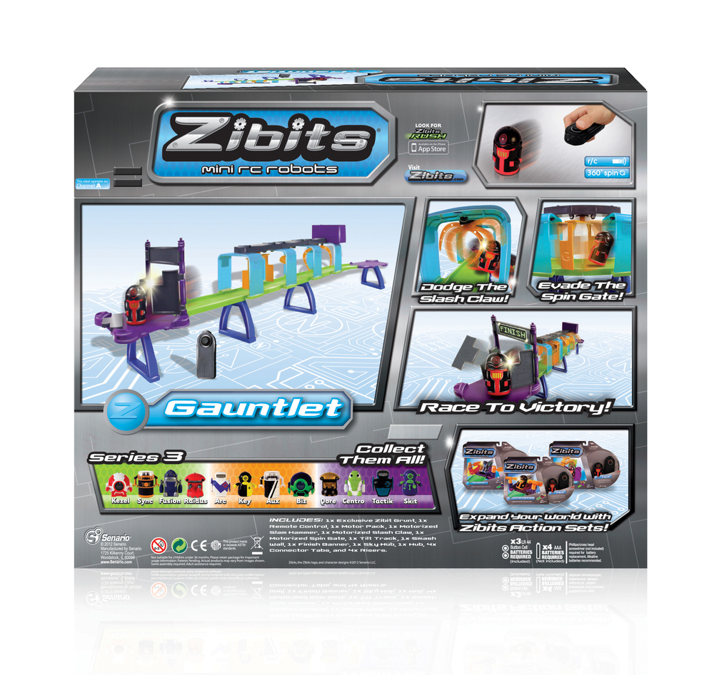 Zibits 'Gauntlet' Package Design  [Image 2/2]  Client: Senario LLC