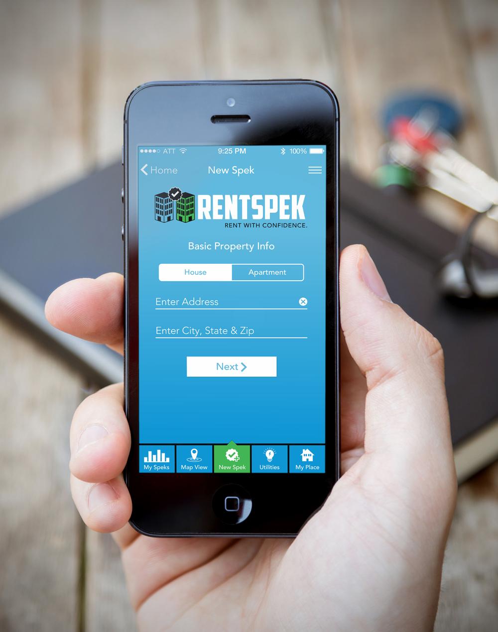 RentSpek Logo & UI Design  [Image 2/3]  Client: RentSpek LLC