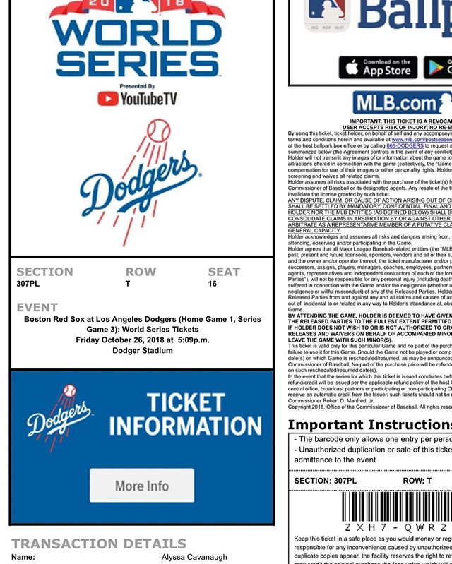 Just want to throw shouts out to @kingcavie who gifted me a surprise ticket to today's game(s). I love her a lot. I have put her through a lot. She is good. I love her. GO DODGERS. 😍 #itfdb #letsgo #dodgers #doyers #ticketmaster #dat #love #maxmuncy #madmax