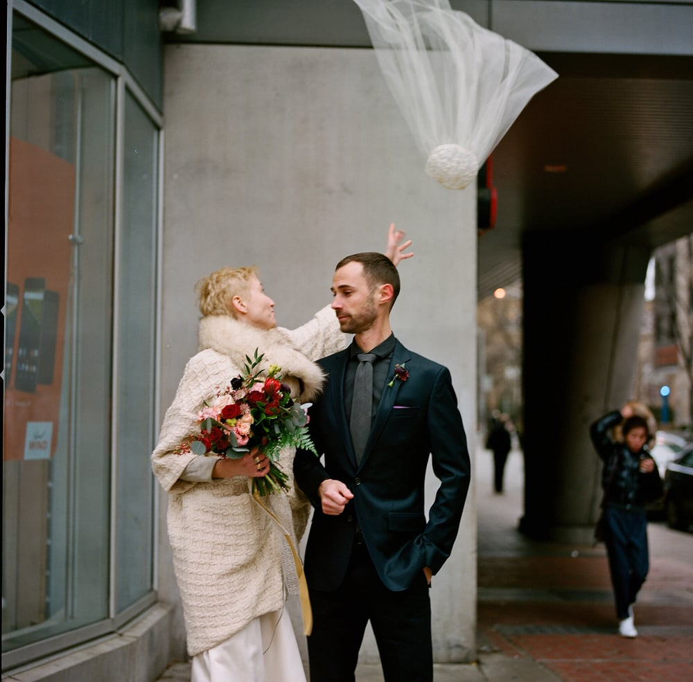 1/60th of a second, a lifetime of love.  my brother wed his longtime love hayley on the coldest day of december.  shot on hasselblad.