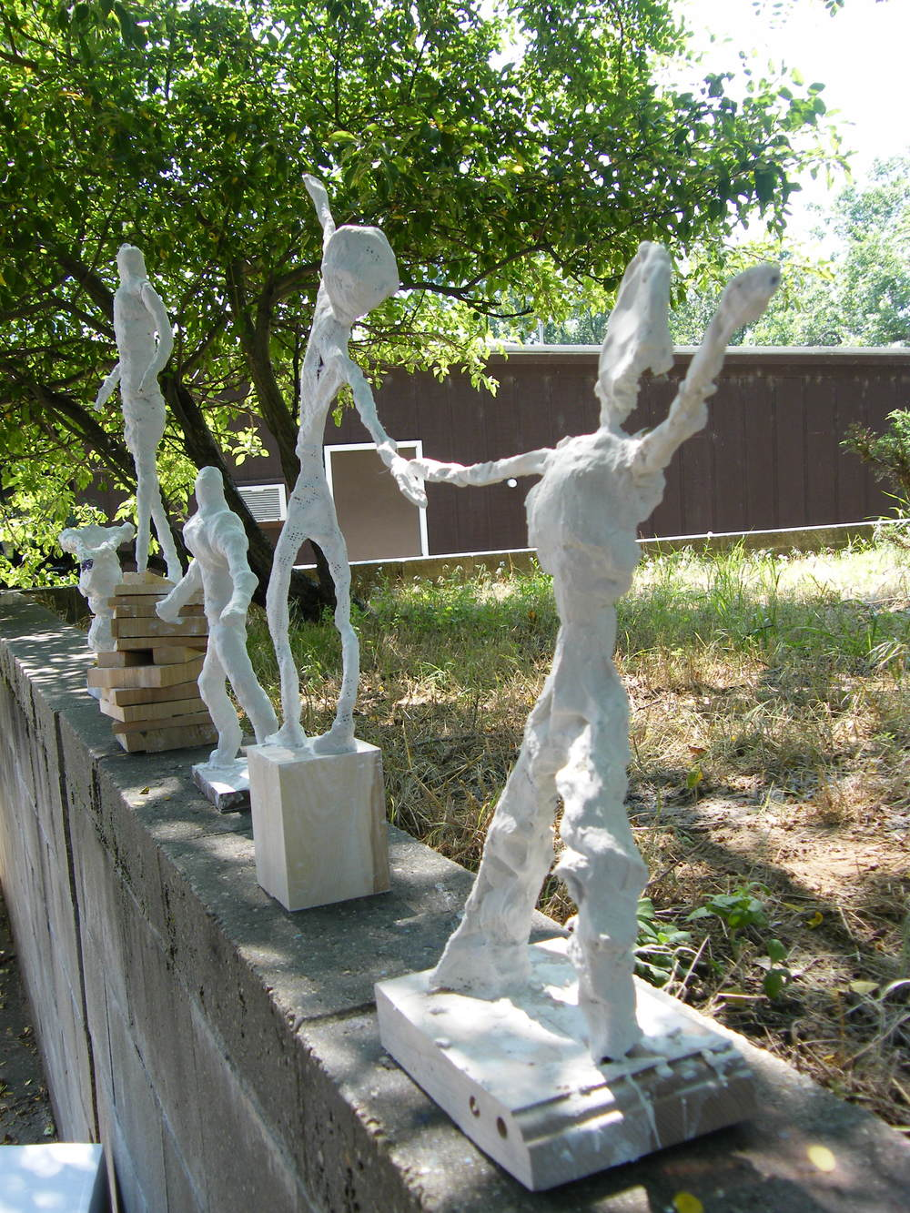 Group of Figure Sculptures, outside Art Barn, Blue Lake