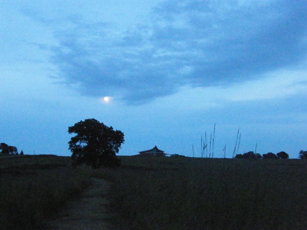 Full Moon over Homestead National Monument Visitor's Center