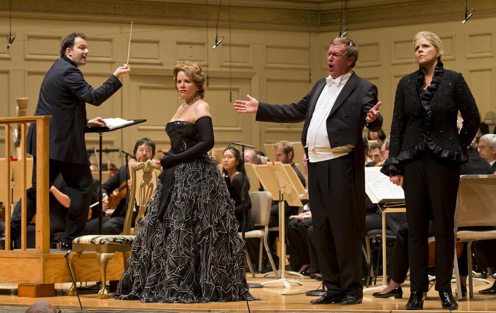 Andris Nelsons conducts. Renée Fleming as Marschallin, Susan Graham as Octavian. Winslow Townson photograph.