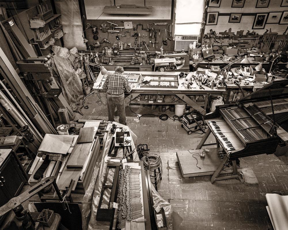 Jeremy Adams in his Danvers, Mass. studio. Photograph Paul Cary Goldberg.