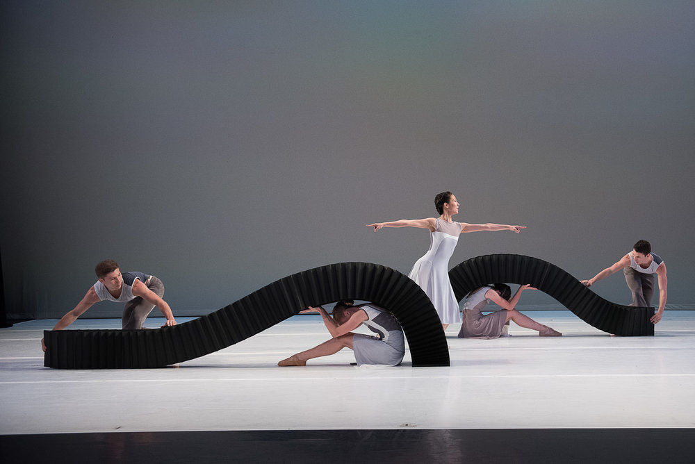 "Jessica Lang Dance, in ""Lyric Pieces,"" Thursday, July 6 in the Ted Shawn Theatre at Jacob's Pillow. Christopher Duggan photograph."