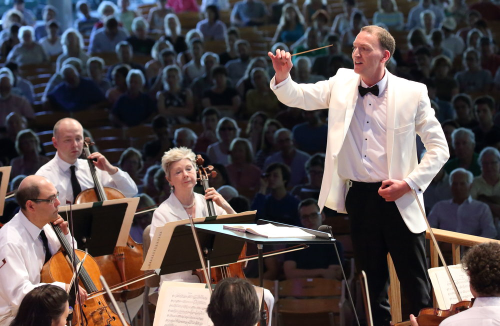 Moritz Gnann debuts with the Boston Symphony Orchestra on Aug. 7, 2016. Hilary Scott photograph