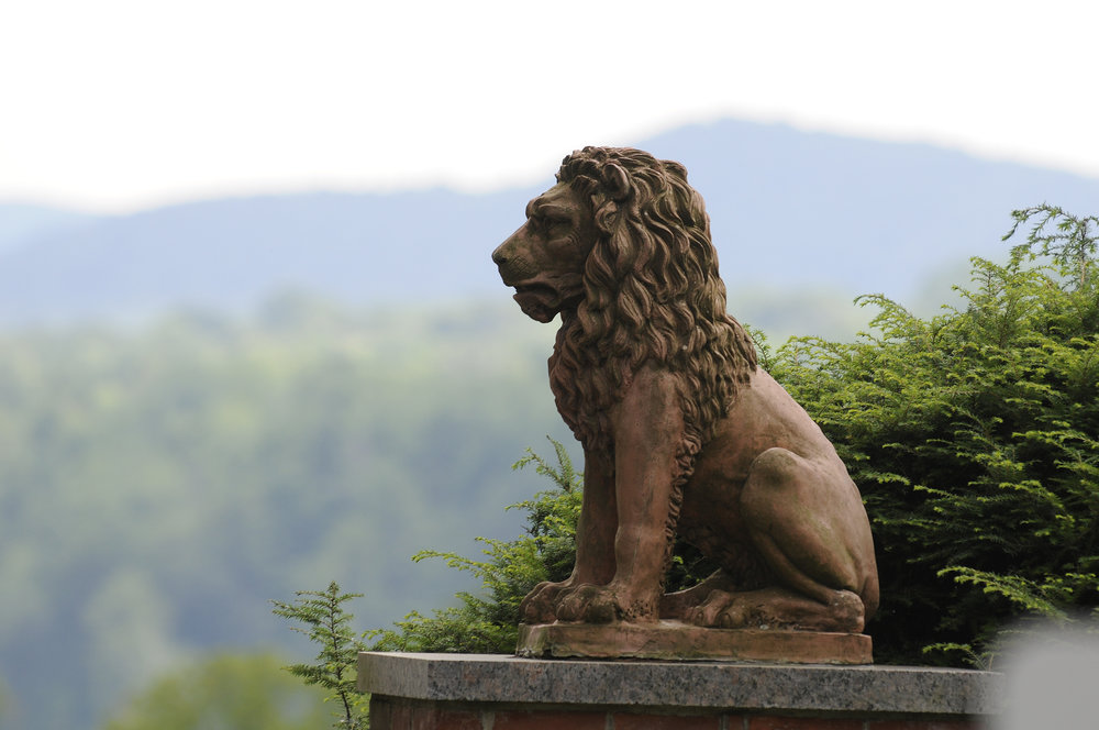 The Lion's Gate Entrance, at Tanglewood. Stu Rosner photograph