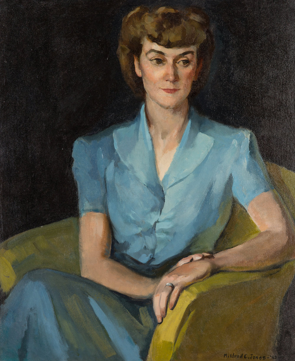 Mildred C. Jones: Self-portrait, 1942. Oil on canvas.
