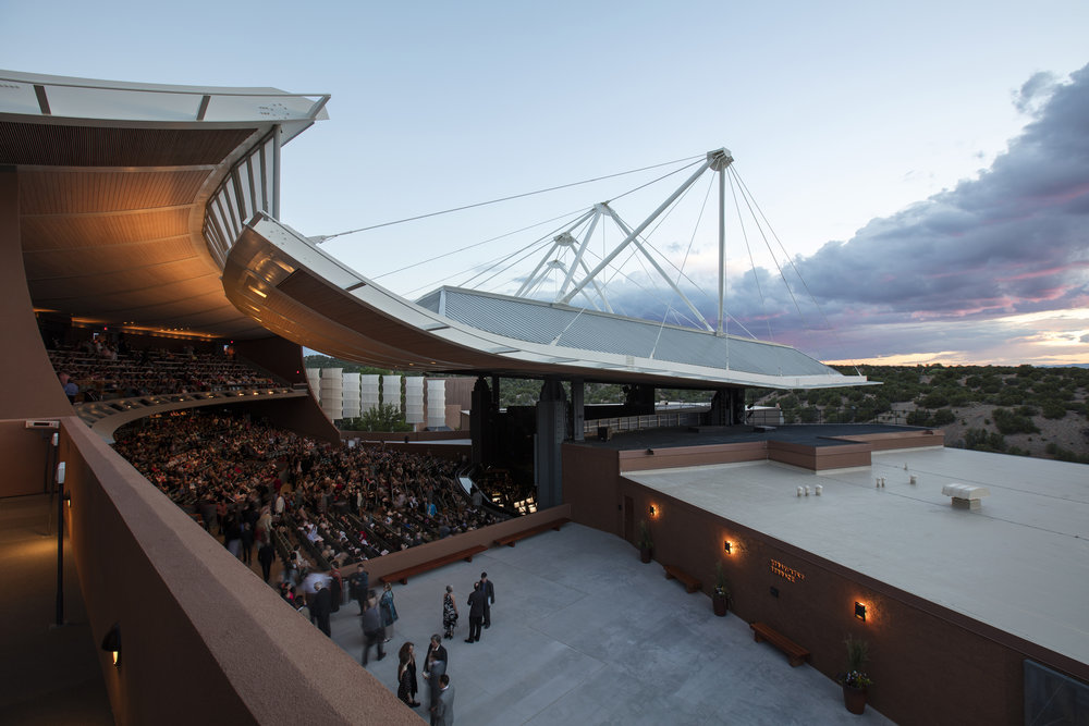 Santa Fe Opera's Crosby Theatre. Kate Russell photograph