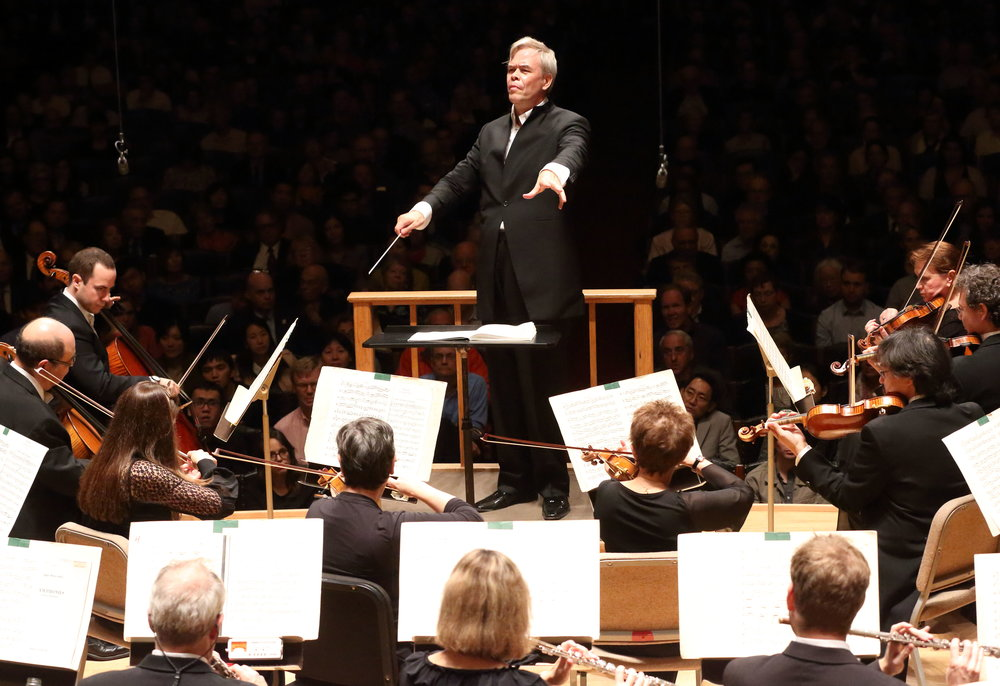 Finnish conductor Hannu Lintu leads the Boston Symphony Orchestra, in his Symphony Hall debut. Hilary Scott photograph