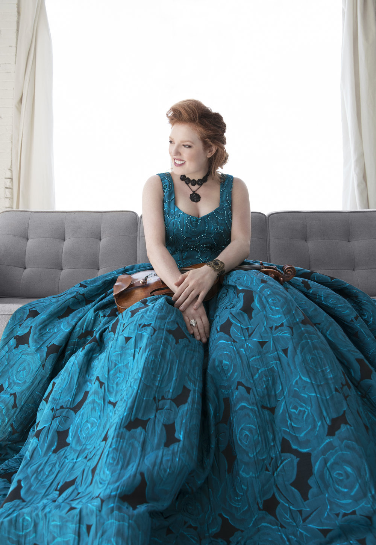 Violinist Rachel Barton Pine. Lisa-Marie Mazzucco photograph