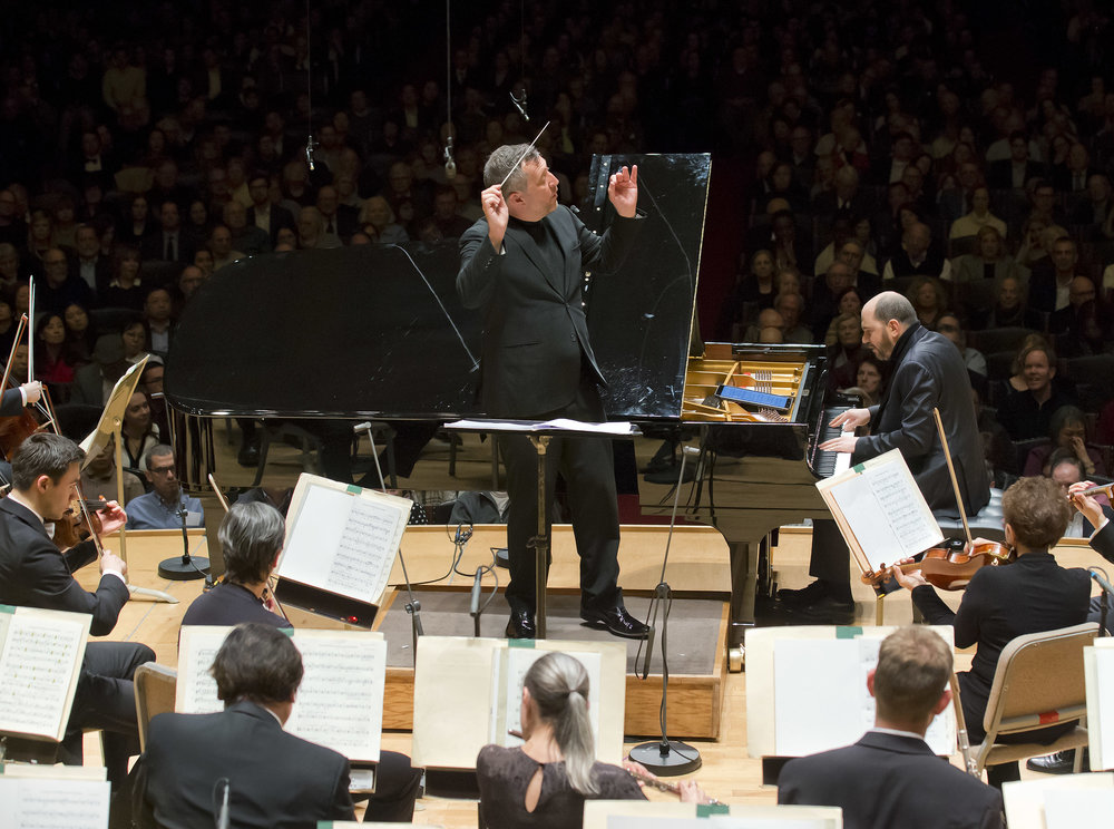 Thomas Adès conducts the Boston Symphony Orchestra, with Kirill Gerstein at the piano. Thursday, March 7, 2019 at Symphony Hall. Winslow Townson photograph