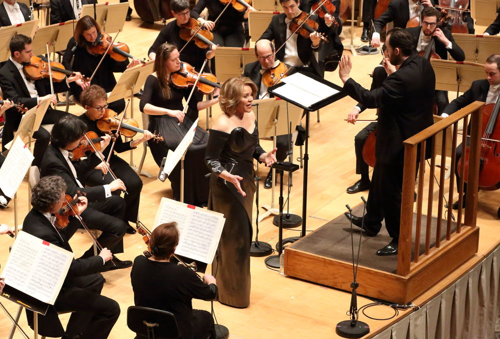 Renée Fleming sings with Andris Nelsons and the Boston Symphony Orchestra, March 14, 2017 at Symphony Hall. Hilary Scott photograph