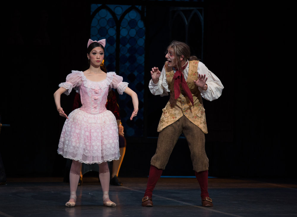 The Coppéilas—doll, and inventor. Misa Kuranaga dances the title role in Boston Ballet's production of Balanchine's re-staging.