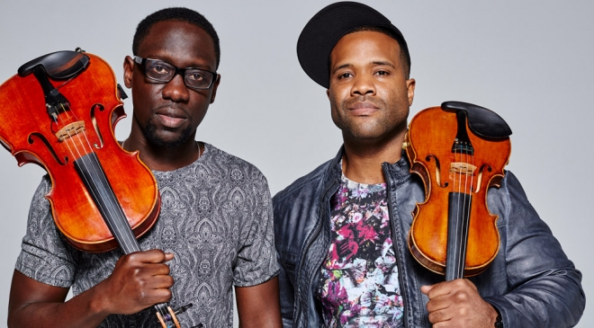 Wil B and Kev Marcus, longtime collaborators, of Black Violin. Colin Brennan photograph