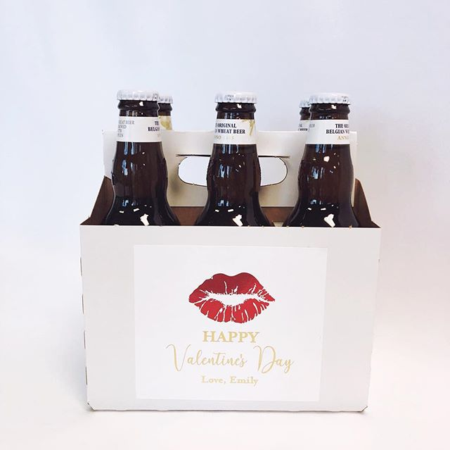 We've been moving so fast over here, it's hard to keep up! But wanted to let you all see some of our fun Valentine's Day gift ideas! We've just added these personalized 6-pack holders, perfect for your special guy! Send us a message, or email concierge@emilyparker.co to order! Shipped orders must be placed by Monday, Feb 11! 💕❤️💋
