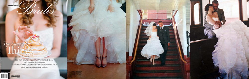 Custom Wedding Dress JINZA Couture Bridal Los Angeles San Francisco Wedding Gown