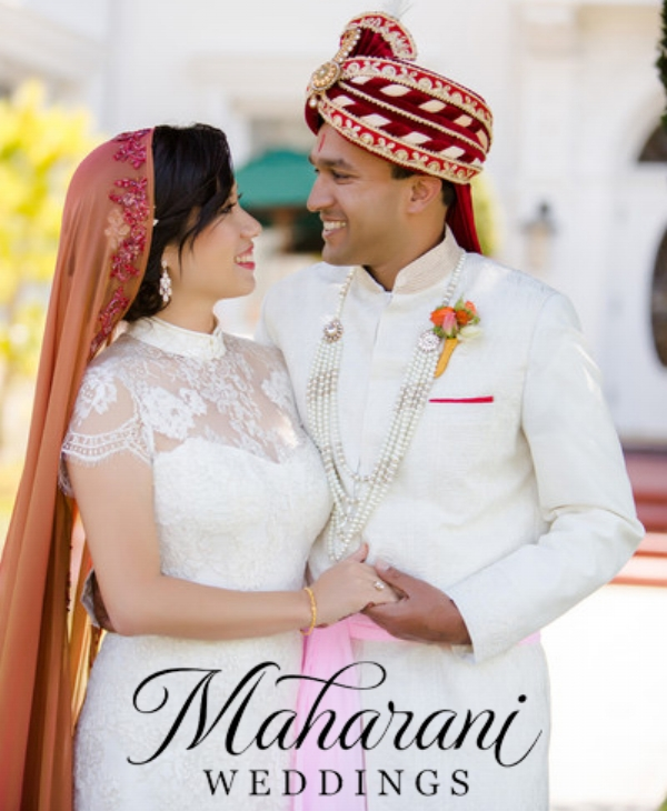 Jinza couture bridal indian fusion wedding featured on maharani weddings junglespirit Images
