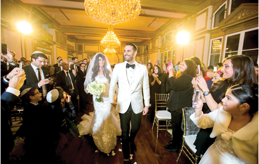 Sarah and Laurent Cohen, Photo: Wind Production; Venue: Alexandria Ballroom Los Angeles