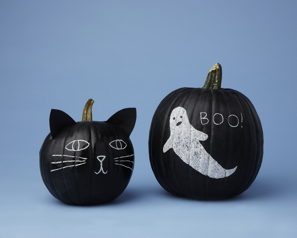 Chalk Pumpkins // Real Simple Magazine