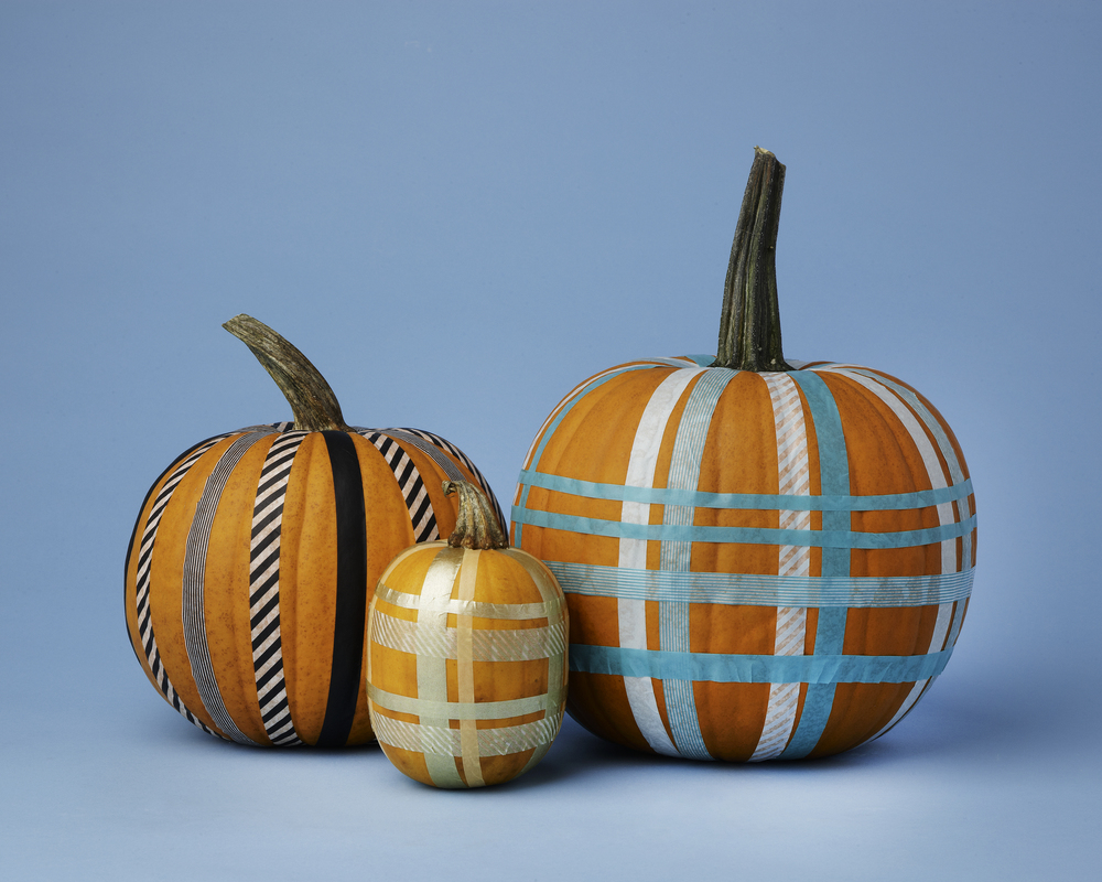 Washi Tape Pumpkins // Real Simple Magazine