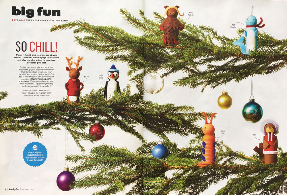 Peg Doll Ornaments // FamilyFun for Parents Magazine