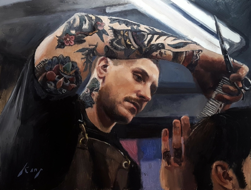 Tom Liptrot from Nomad Barbershop