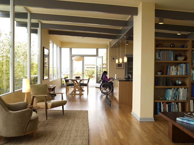 Here is an example of a handicap friendly home.
