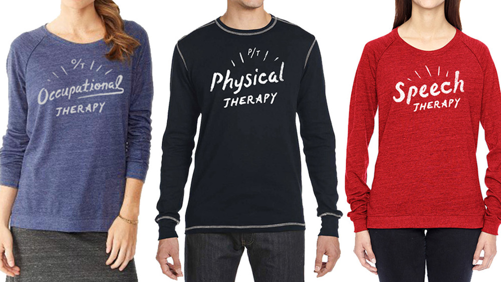 Occupational, physical, and speech therapy shirts