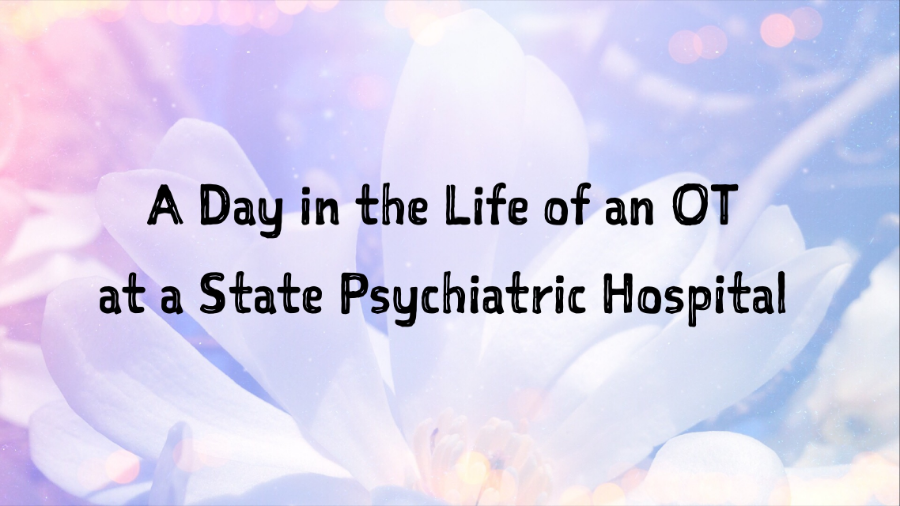 A day in the life of an OT at a state psychiatric hospital