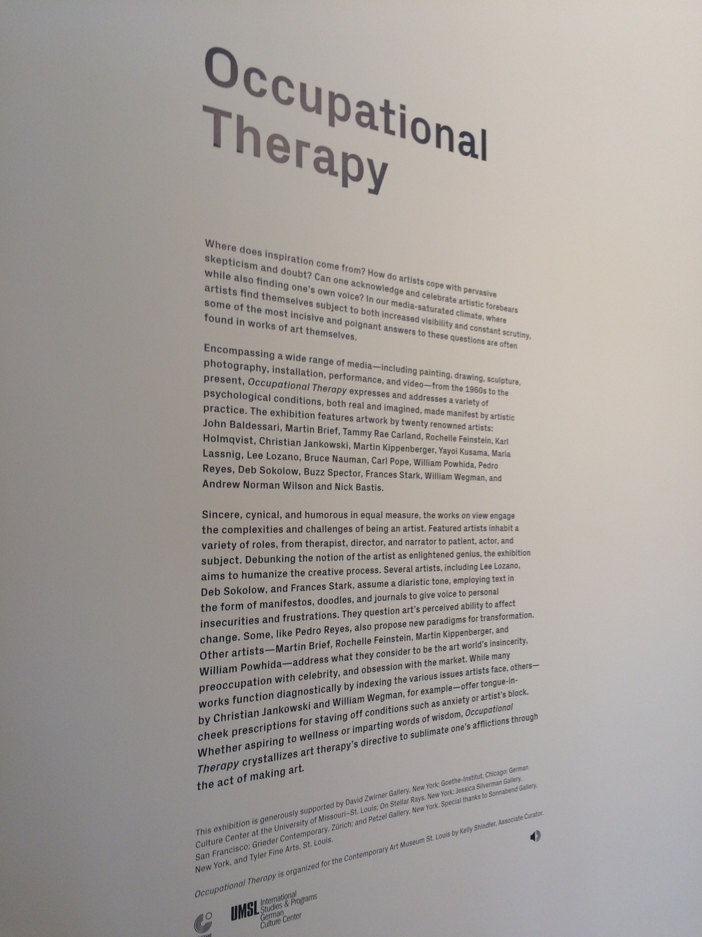 occupational therapy art exhibit