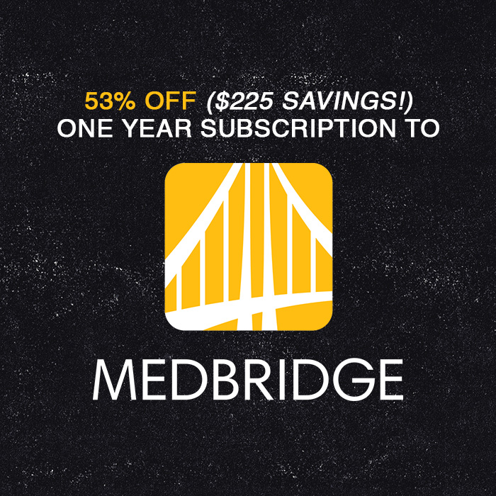 Use this link or promo code for discount on MedBridge!