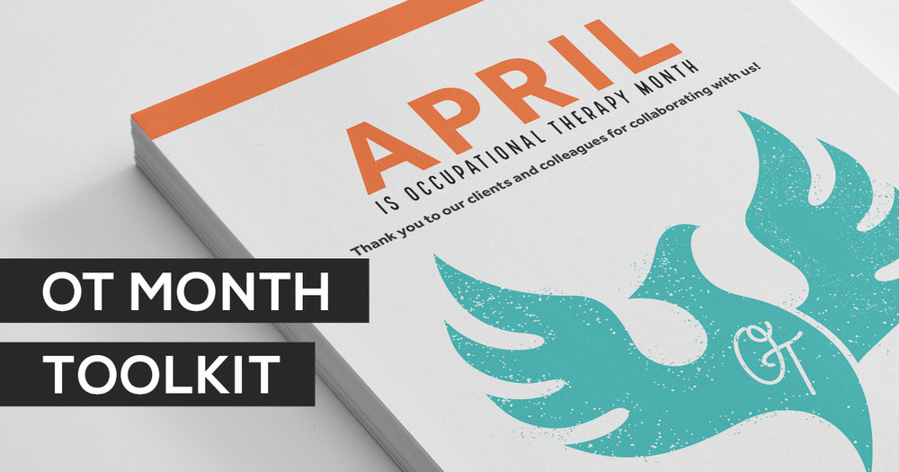If you are unsure how to celebrate OT month in your occupational therapy department this year, check out this OT Month Toolkit! It has everything you need to celebrate in style!