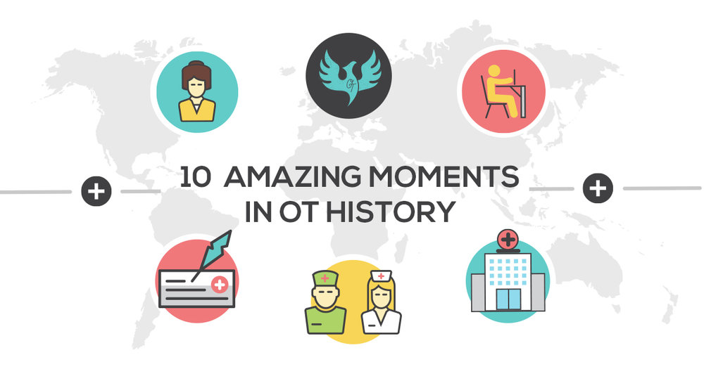 From the founding of an OT national association to Sigourney Weaver playing an OT in a movie, here are 10 highlights from the history of occupational therapy.