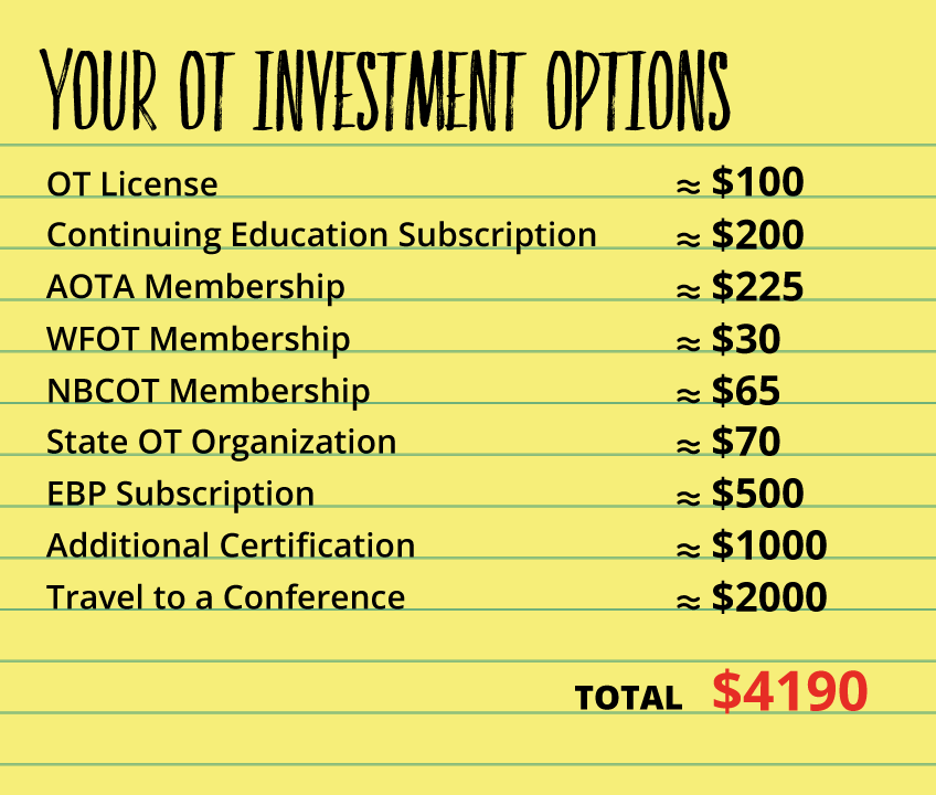 Here's an overview of all the ways you can invest in your OT career. My hope is that having information about all of these option in one place will help you weigh your options!
