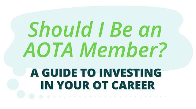 This new post was so fun to work on! In it you will find answers to your AOTA questions and many others. Check out OT Potential's new guide to investing in your #occupationaltherapy career by clicking on the link in my bio! #aota #nbcot #uptodate #investwisely