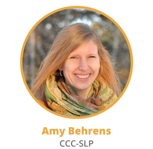 Amy Behrens, speech therapist