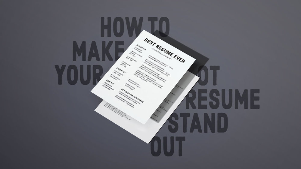 How to Make Your OT Resume Stand Out — OT Potential