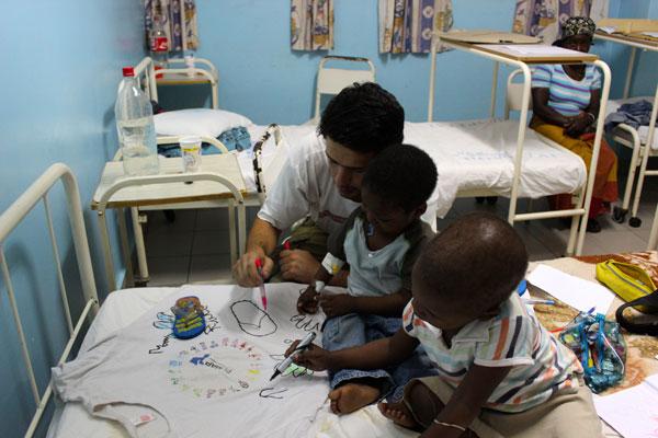 Actividades no Hospital Central de Maputo.
