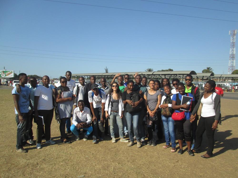 Saída de campo com alunos de módulos da UEM