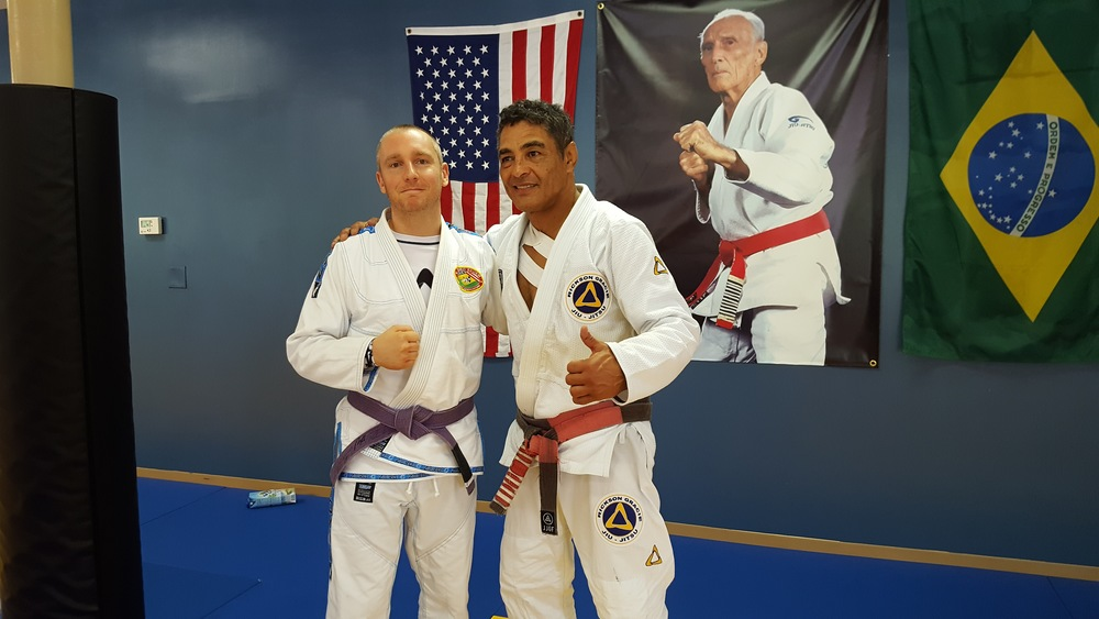 Coach Jeremiah with the legend, Rickson Gracie