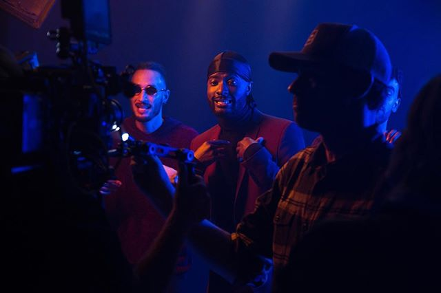 """Happy Birthday @cardigand • {Photo taken during the music video shoot for @the.wav, """"Proposition"""" directed by @cassidyrast and shot at @evidencestudios} #thewav #evidencestudios #electricladyfilms #evidenceproductions #shotatevidence"""