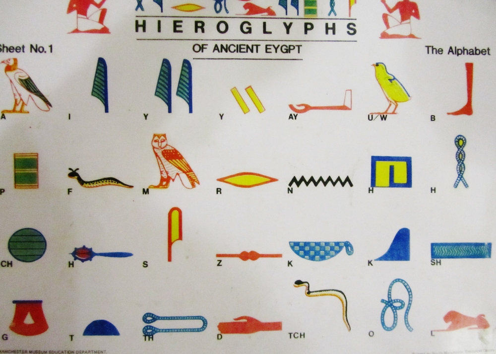 after hours manchester museum hieroglyphs alphabet.JPG