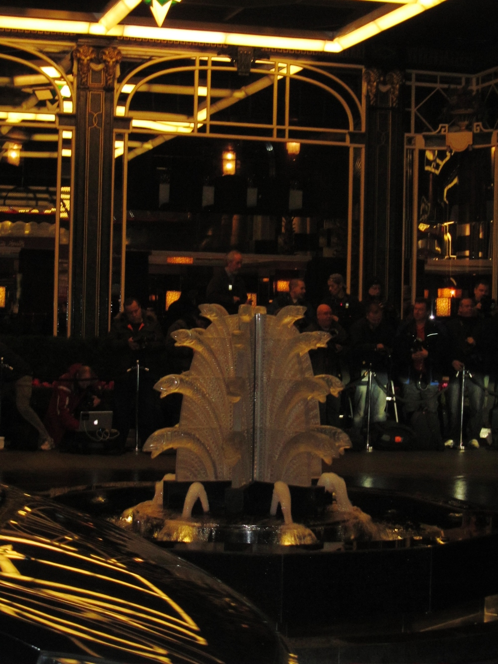 savoy glass fish fountain fashion awards.JPG