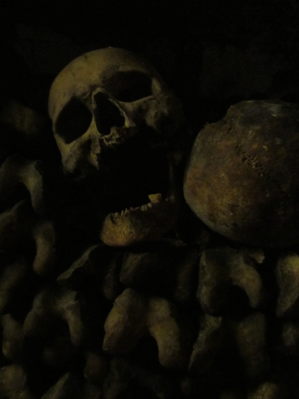 paris catacombs twisted skull.JPG